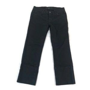 Joe's Jeans Black Socialite Kicker Cropped Stretch